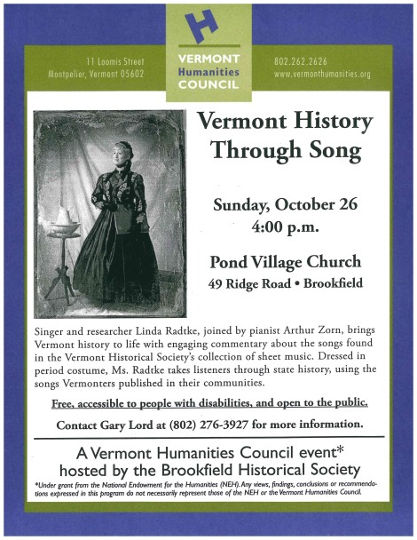 Flyer - VT History through Song