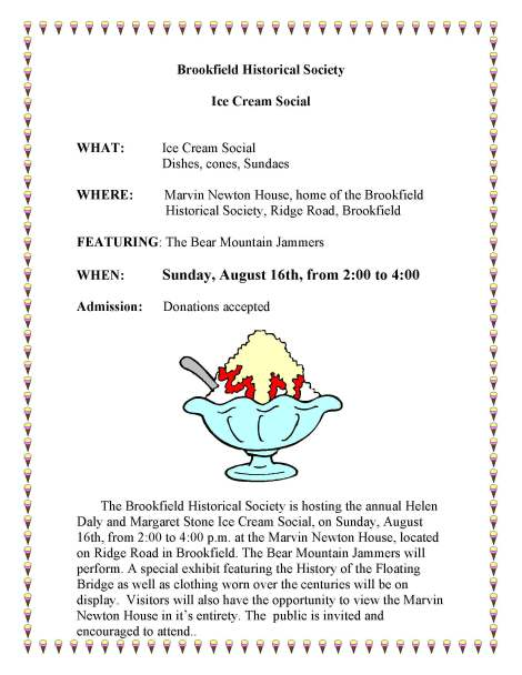 2014 Ice Cream Social flyer