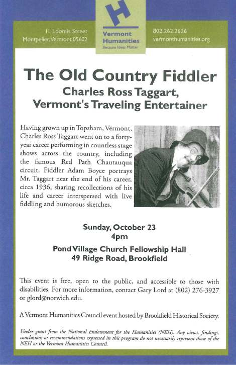 Flyer - Old Country Fiddler