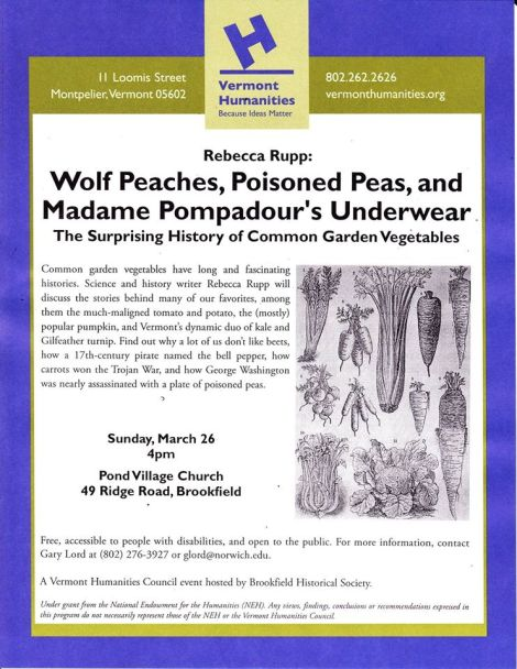 Flyer-Surprising History of Common Garden Vegetables
