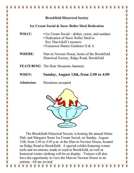 2017 Ice Cream Social flyer