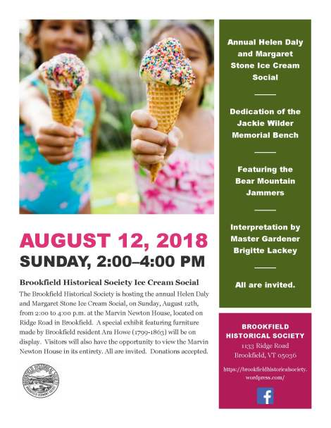 2018 Ice Cream Social flyer